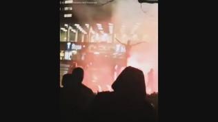 Malmoe, i tifosi bruciano la statua di Ibrahimovic