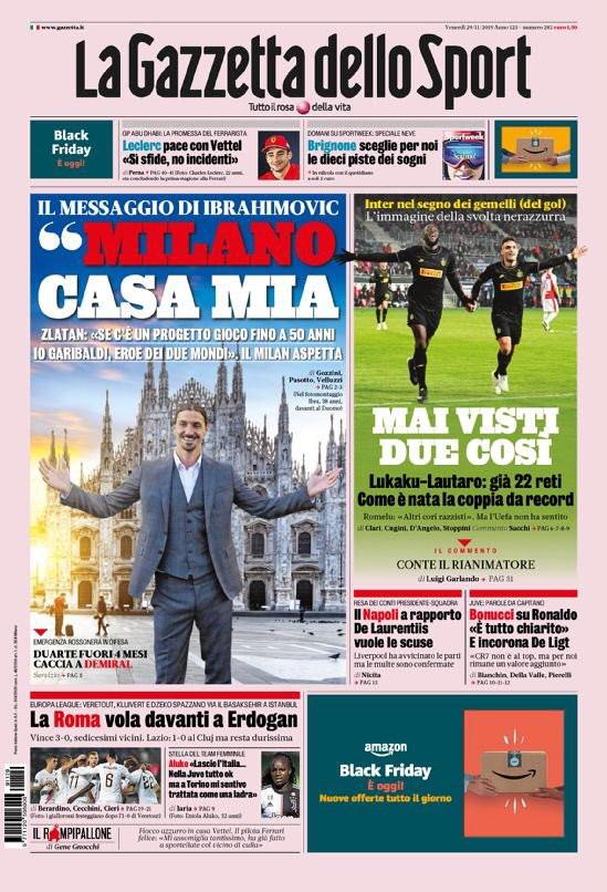 Lo sport sui giornali italiani e internazionali