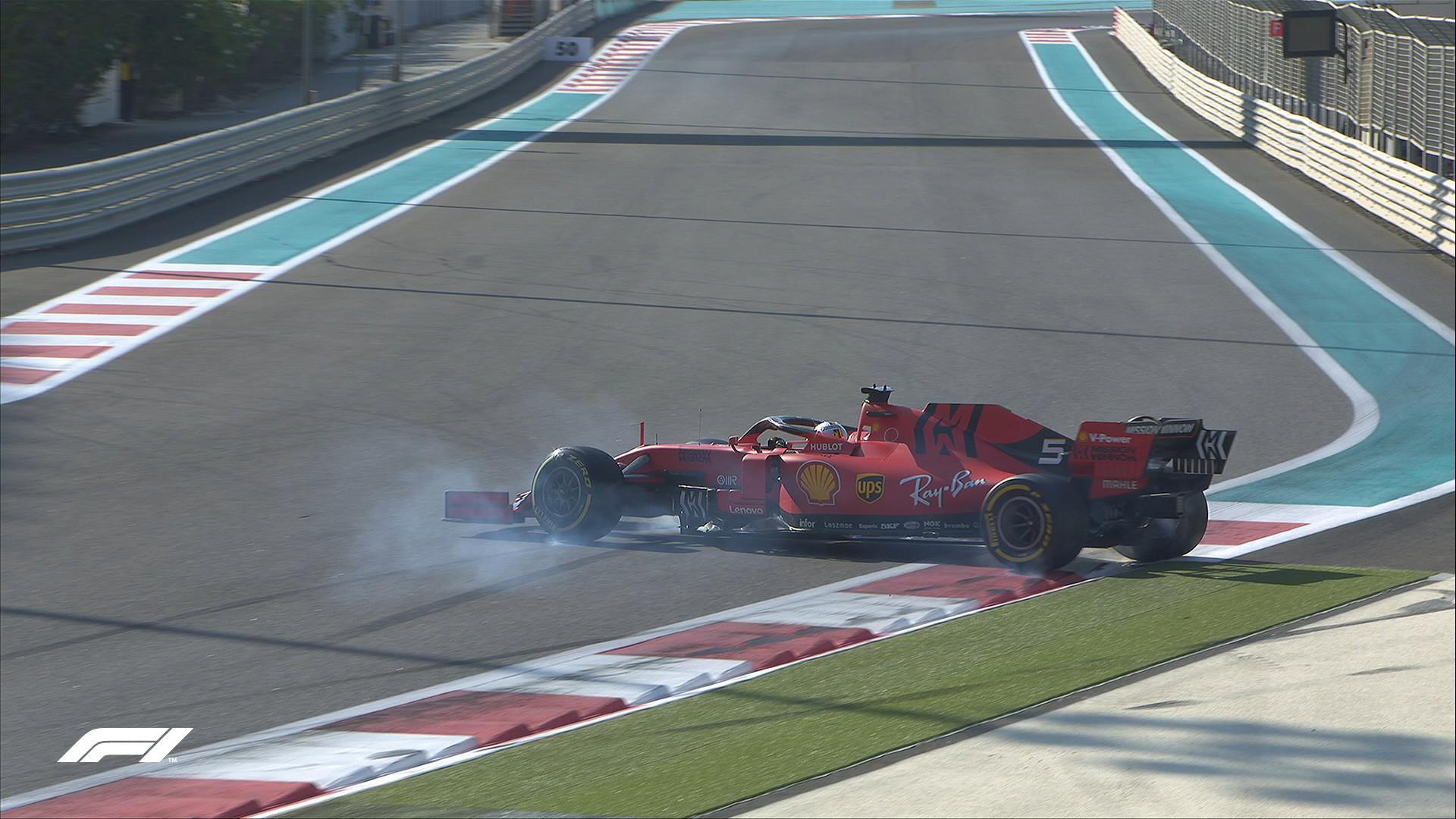 Il tedesco della Ferrari ha perso la sua SF90 alla curva 19, mentre stava spingendo per il suo ultimo giro lanciato a pochi minuti dalla bandiera a scacchi. Posteriore sinistra distrutta, ma nessun'altra conseguenza apparente.