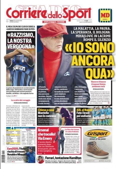 Lo sport sui giornali italiani ed esteri