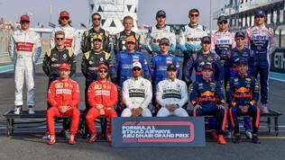 F1, foto di classe per l'ultimo GP del 2019