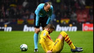 Barça, Piqué va ko: difficile il recupero per l'Inter