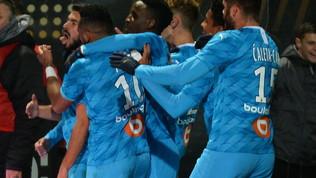 Ligue 1: Marsiglia sempre più secondo, Bordeaux a valanga, il Lille passa a Lione