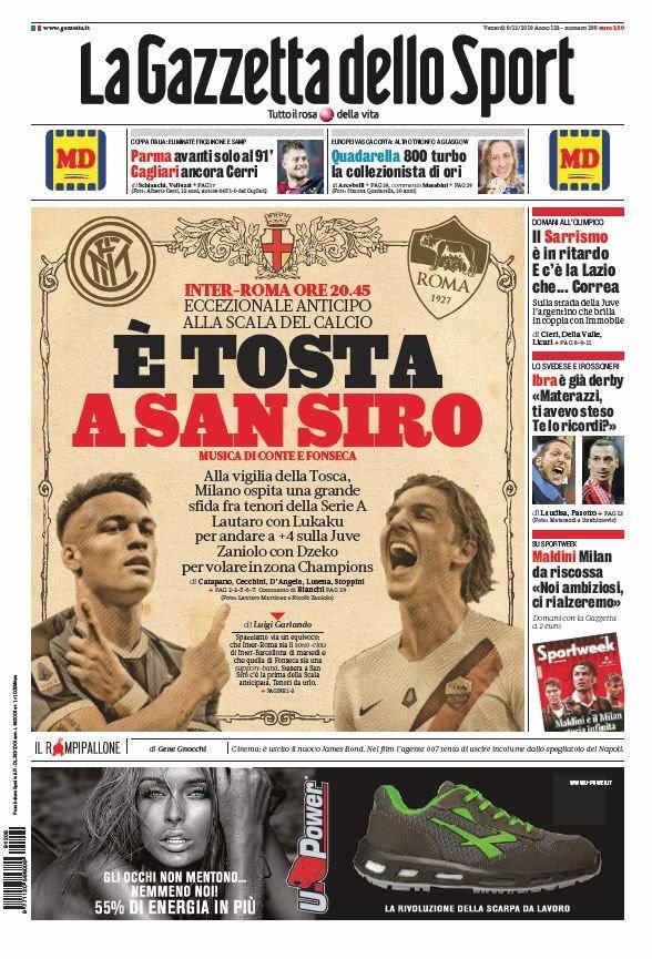 Rassegna stampa dei quotidiani italiani e stranieri