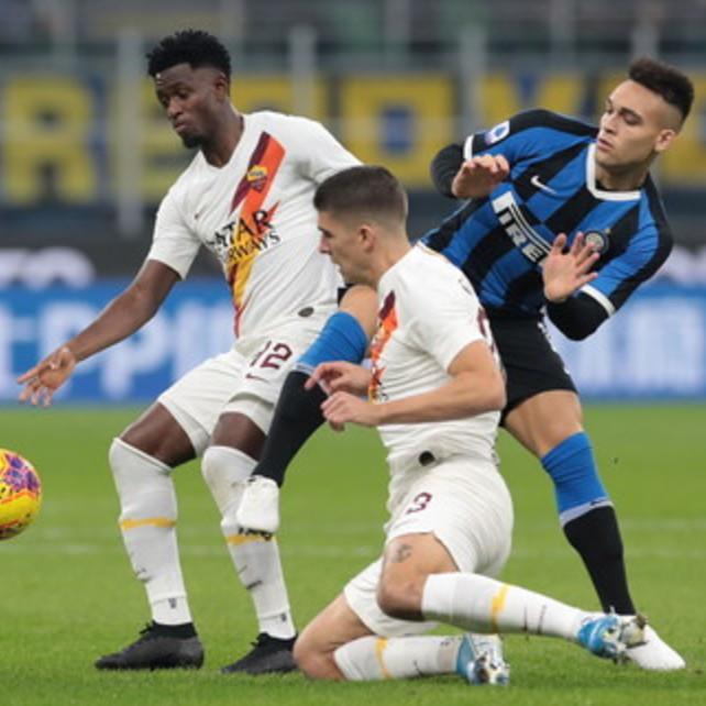 Dentro Asamoah e Dzeko  Inter-Roma 0-0LIVE