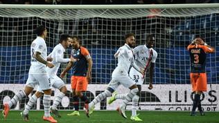 Illusione Montpellier, poi è uraganoPsg con Neymar, Mbappé e Icardi
