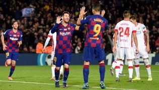Inter attenta, Messi è scatenato: Maiorca travolto. Ma il Real tiene