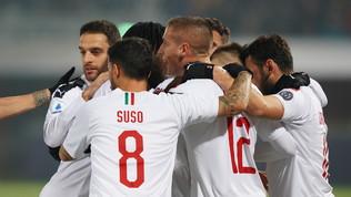 Milan, tris a Bologna