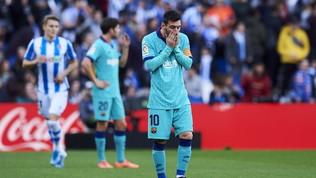 La Real Sociedad ferma la corsa del Barça: solo pari