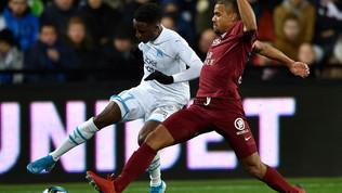 Marsiglia salvato da Pelé: a Metz un 1-1 che serve a poco