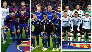 Barcellona da paura, Lione in crisi. Attenti al Valencia