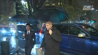 L'Inter festeggia il Natale sotto la pioggia
