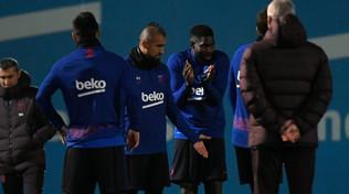 Barcellona, Vidalin panchina nel Clasico: il cileno furioso lascia la rifinitura