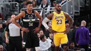 Nba: Antetokounmpo stende i Lakers, Clippers rimontati da Houston