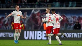 Bundesliga: il Lipsia è campione d'inverno, il M'Gladbach si ferma a Berlino, il Bayern vince ancora nel finale
