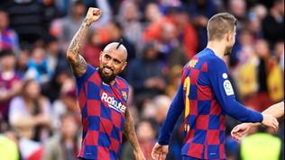 Poker Barça, a segno anche Vidal: Valverde allontana il Real
