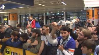 Lazio, delirio a Fiumicino al ritorno da Riad