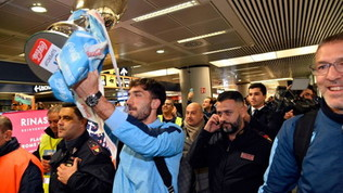 Lazio, ritorno a Roma con la Coppa