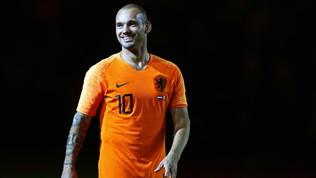 Sneijder, una parata di stelle per la prtita di addio!