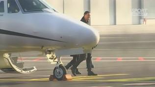 Milan, Ibrahimovic è sbarcato a Linate