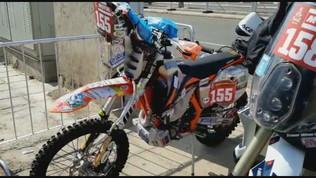 Matteo Olivetto alla partenza della Dakar