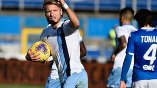Immobile show: la Lazio suona la nona, Balo non basta al Brescia