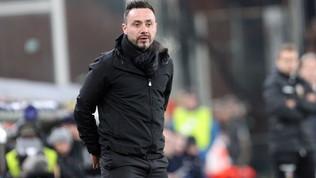 """De Zerbiesplode: """"Scandaloso il rigore per il Genoa e irregolare il 2-1"""""""