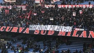 Milan, la Curva Sud non dimentica Bergamo