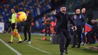 """Napoli, Gattuso: """"Ci siamo fatti tre gol da soli, Non è facile giocare al San Paolo"""""""