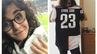 Emre Can, maglia in regalo alla tifosa colpita da una pallonata