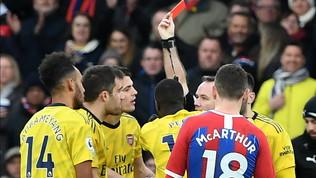 Aubameyang, gol e rosso: il Crystal Palace frena l'Arsenal