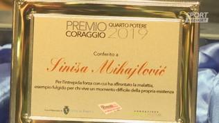 """Bologna, a Mihajlovic il premio Coraggio: """"A 75 giorni dal trapianto tutto bene"""""""