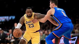 Gallinari dà spettacolo, ma i Lakerstravolgono i Thunder