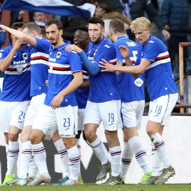 La Samp vince il mal di gol a Marassi, Brescia sempre più nei guai