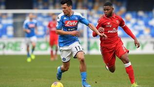 Coppa Italia, Napoli-Perugia 2-0: le foto del match