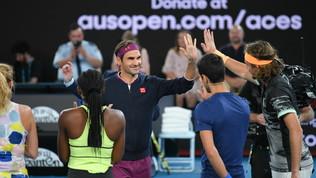 Le star del tennis in campo per l'Australia