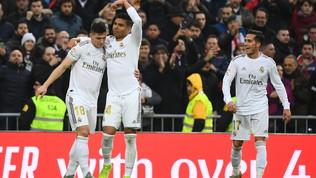 Casemiro stende il Siviglia, Real in vetta | Atletico Madrid ko