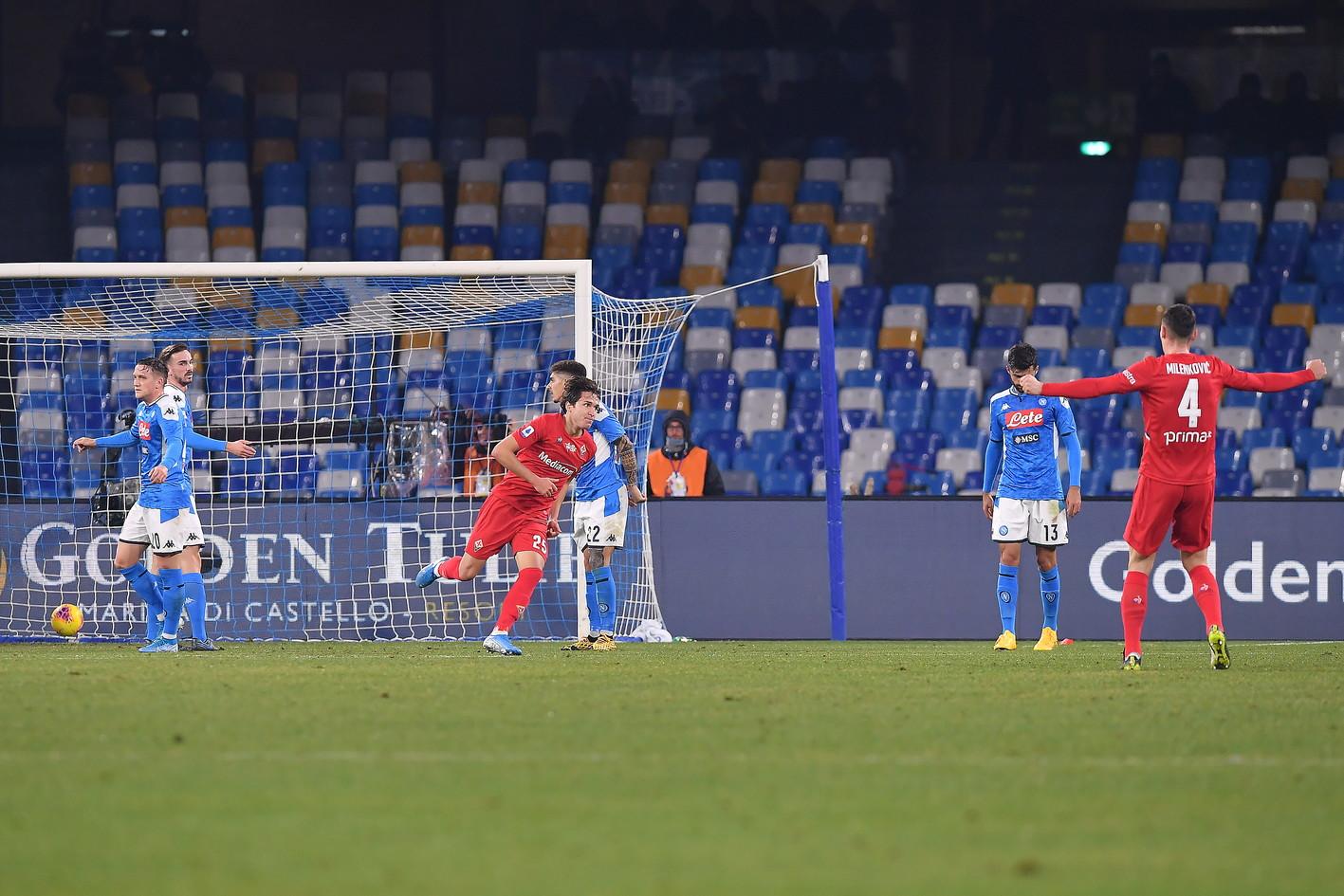 Le immagini della sfida del San Paolo tra gli azzurri di Gattuso e i viola di Iachini