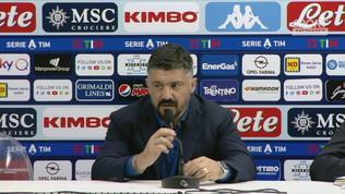 """Napoli, Gattuso: """"Squadra in ritiro, prestazione imbarazzante"""""""