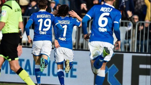 Brescia-Cagliari 2-2: Torregrossa e Joao Pedro show, Balo rosso shock