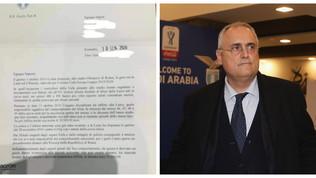 """Lazio, Lotito scrive ai tifosi: """"Ci dovete 50mila euro"""""""