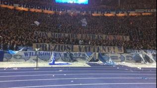"""Una contestazione senza confini, i tifosi dell'Hertha: """"Preziosi vattene"""""""
