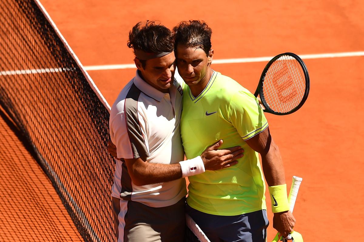 7 giugno 2019: i due grandi rivali Federer-Nadal ai Roland Garros