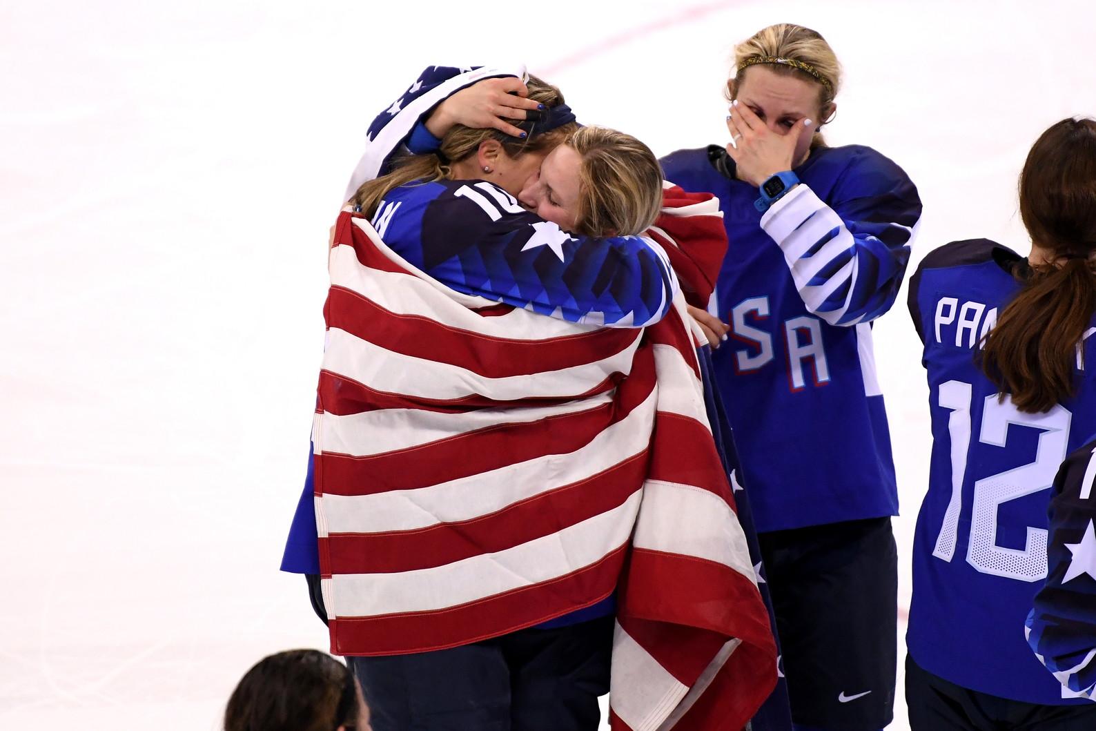22 febbraio 2018: gli Usa vincono l'oro nell'hockey femminile