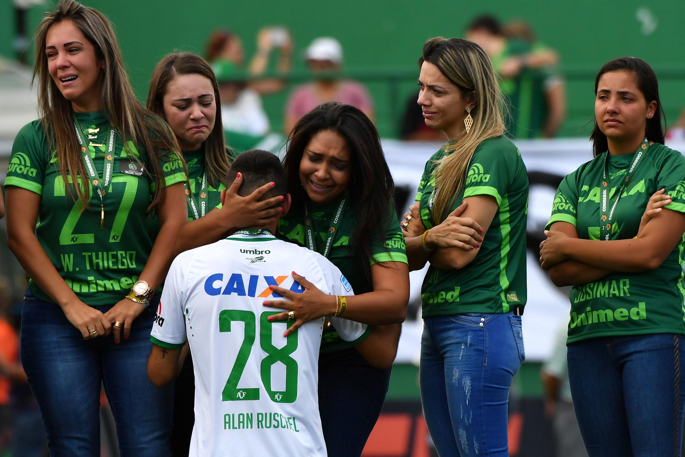 21 novembre 2017: Ruschel, uno dei sopravvissuti della tragedia della Chapecoense