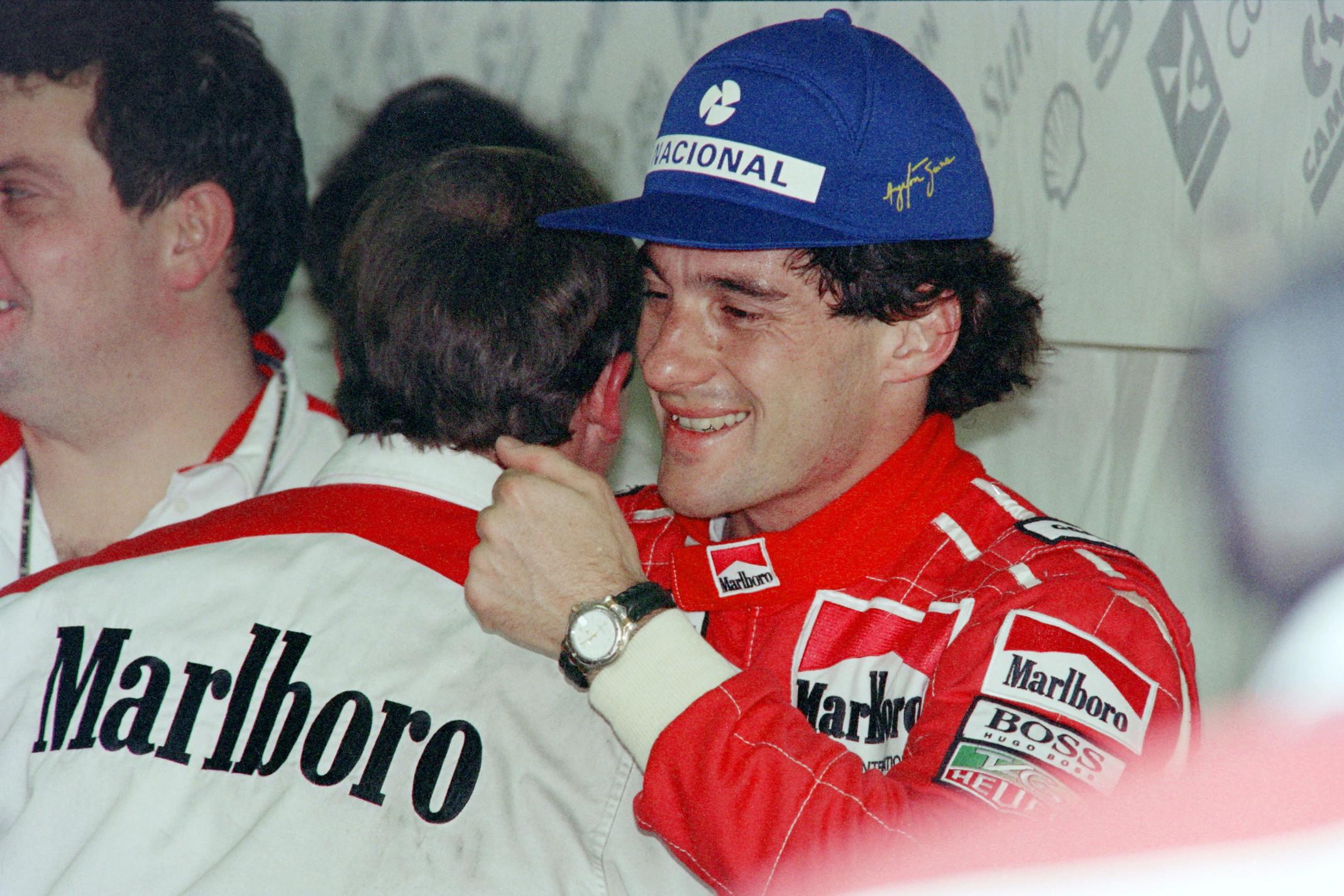 6 novembre 1993: Ayrton Senna ai box McLaren