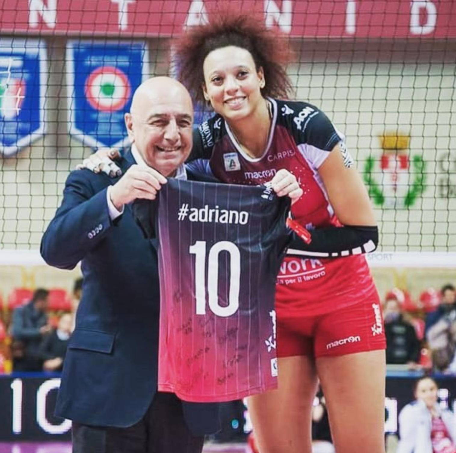 Con Adriano Galliani, ex-amministratore delegato del Milan.