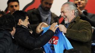 """De Laurentiis: """"Maradona è un handicap per il Napoli"""""""