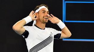 Australian Open, maratona show di Fognini