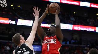Nba, Zion Williamson debutta da fenomeno: 22 punti